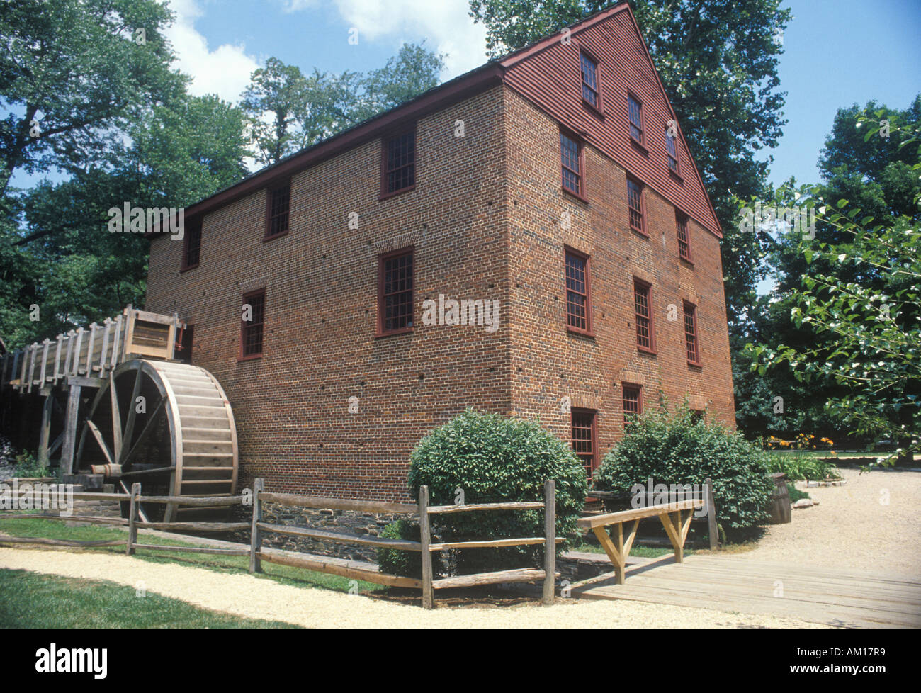 Exterior of Colvin Run grist mill Fairfax Virginia - Stock Image