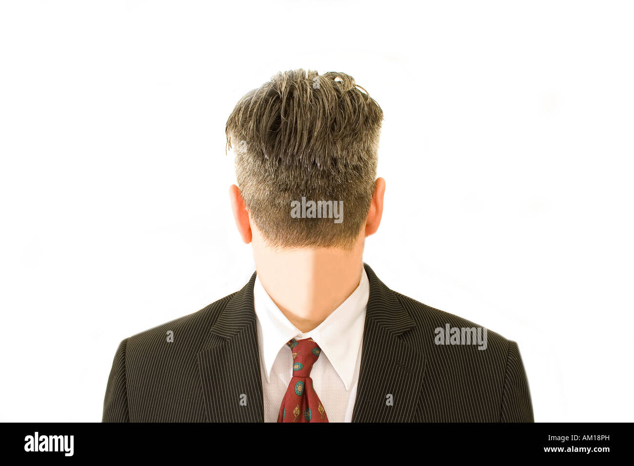 Business man with turned head - Stock Image