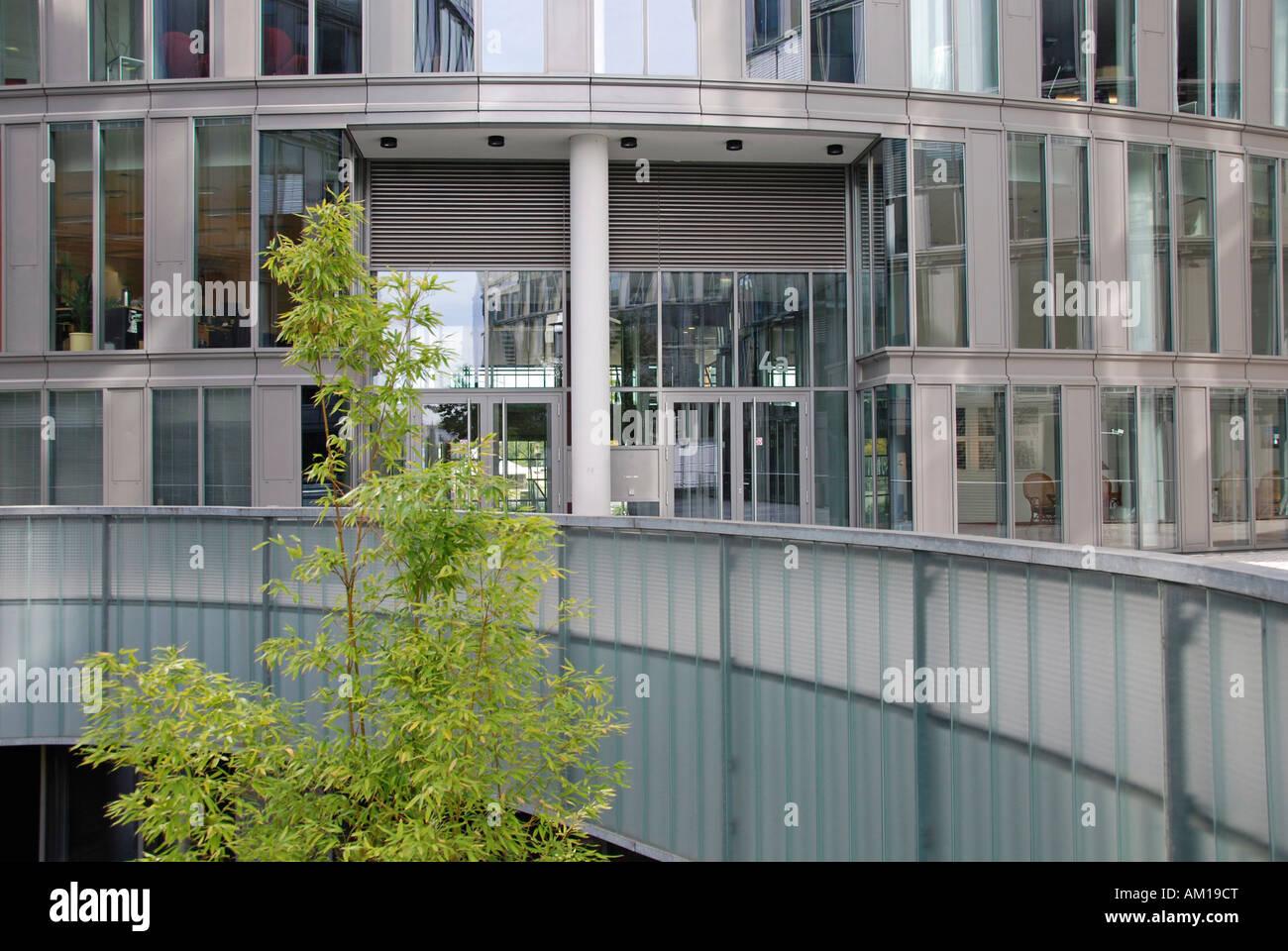 Office building, Mediapark, Cologne, Germany - Stock Image