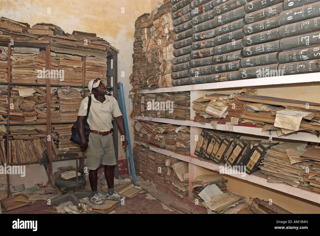Archives of Ibo Island, Quirimbas islands, Mozambique, Africa - Stock Image