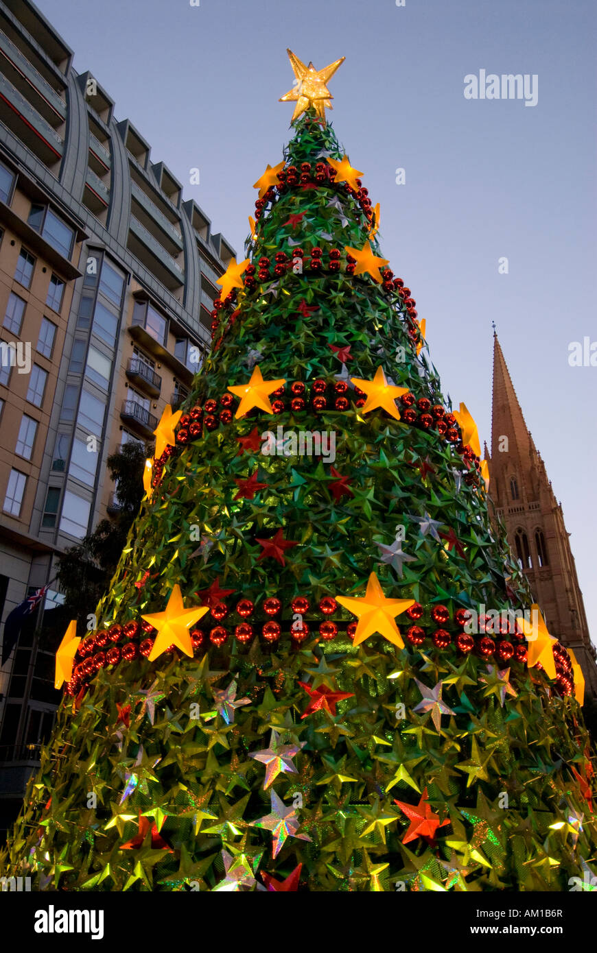 Christmas tree, Christmas decorations, Melbourne, Victoria ...