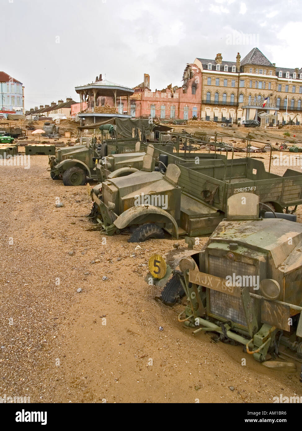 Seafront location set during the filming of Atonement a story based on the Dunkirk evacuation - Stock Image
