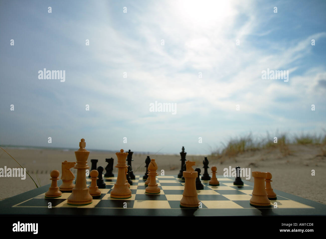 War. Concept image. Chess game - Stock Image
