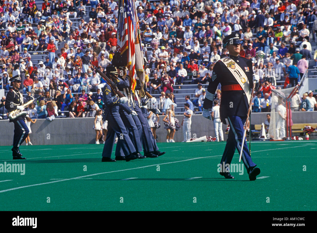 Color guard at the Army vs Lafayette game Michie Stadium New York - Stock Image