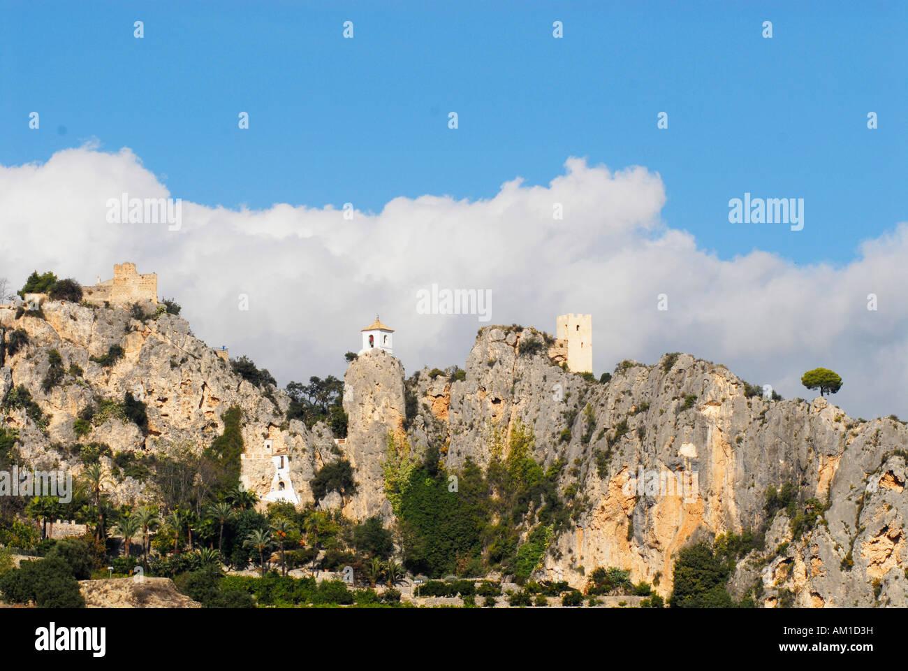 El castell de guadalest alicante spain stock photo - Stock uno alicante ...