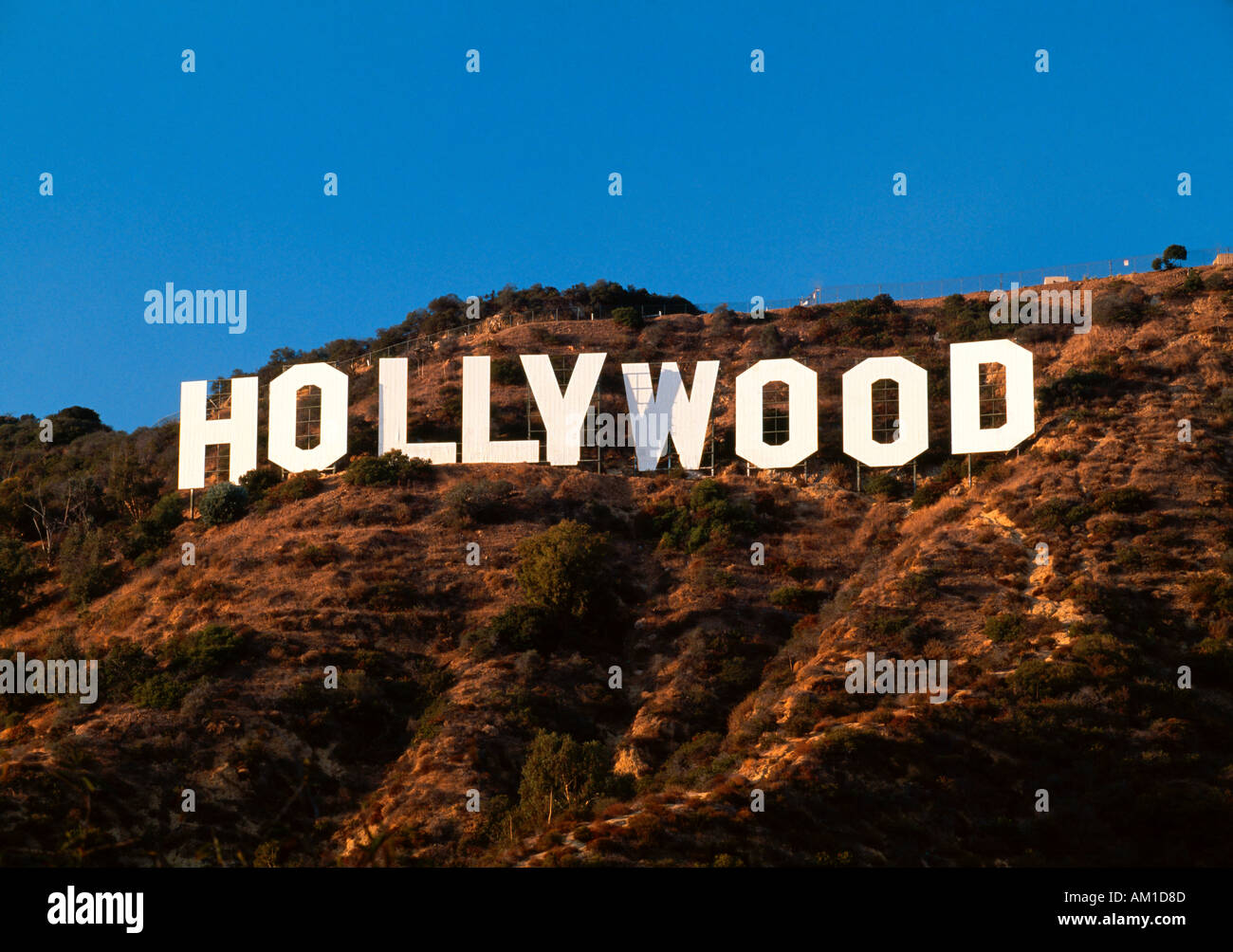 United States of America, California, Los Angeles, The Hollywood sign in Beverley Hills - Stock Image