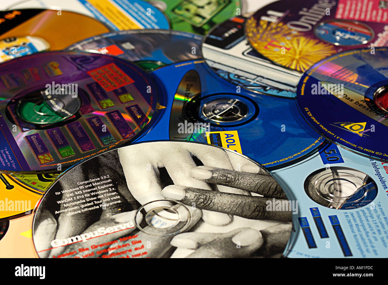 A Bulk of Advertising Cds - Stock Image