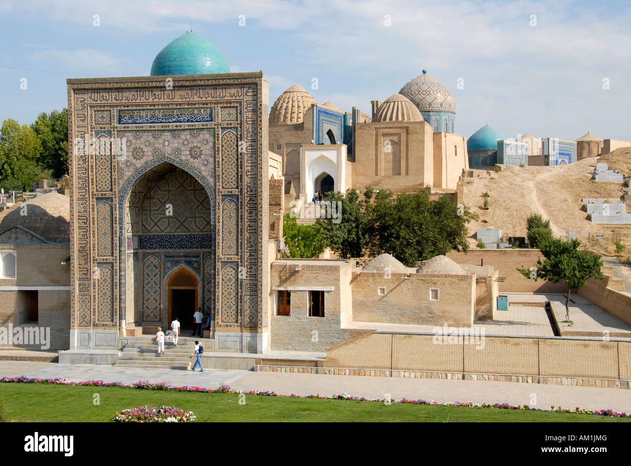 Necropolis Shah-i-Zinda Samarkand Uzbekistan Stock Photo