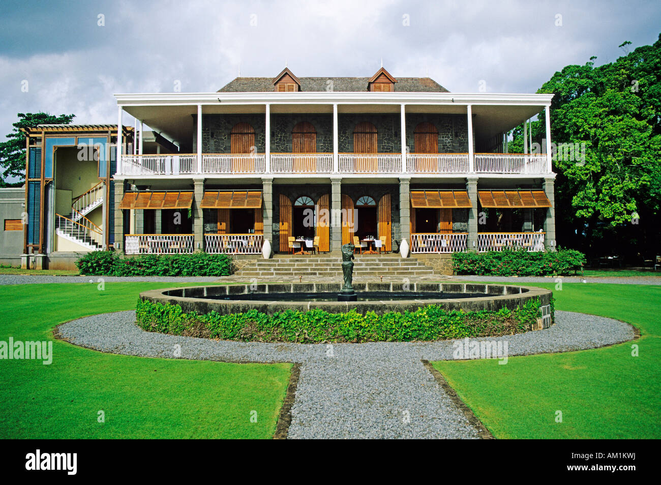 Colonial villa Chateau de Bel Ombre, Mauritius island, Africa - Stock Image