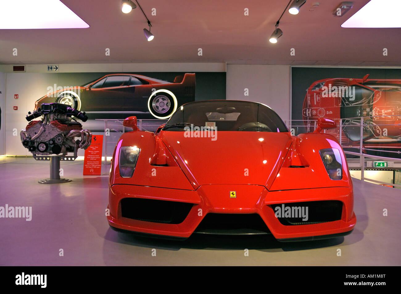 Special model Ferrari Enzo, in the Ferrari museum, Maranello, Emiglia Romana, Italy - Stock Image