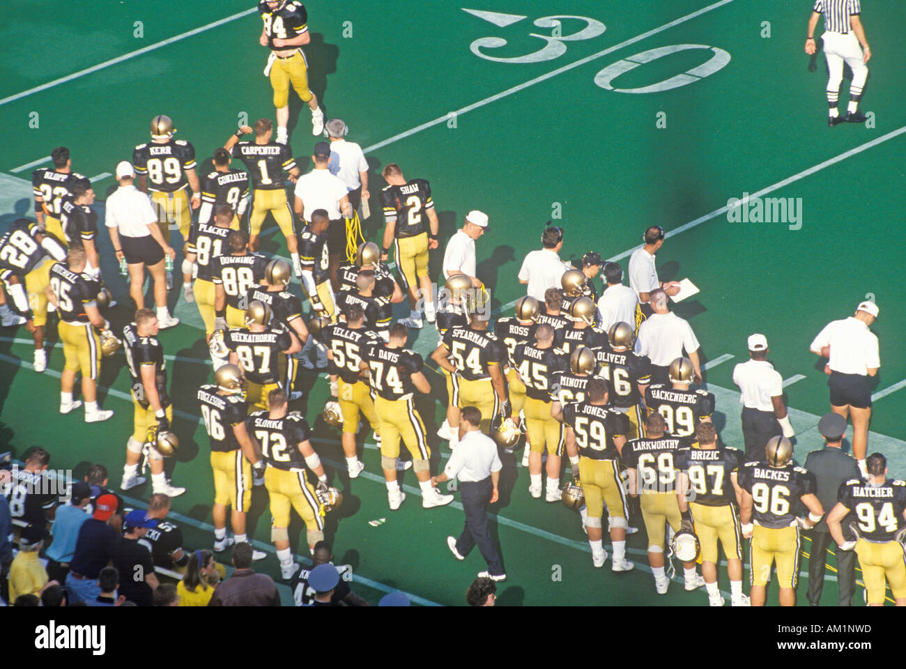 College football game Army vs Lafayette Michie Stadium New York - Stock Image