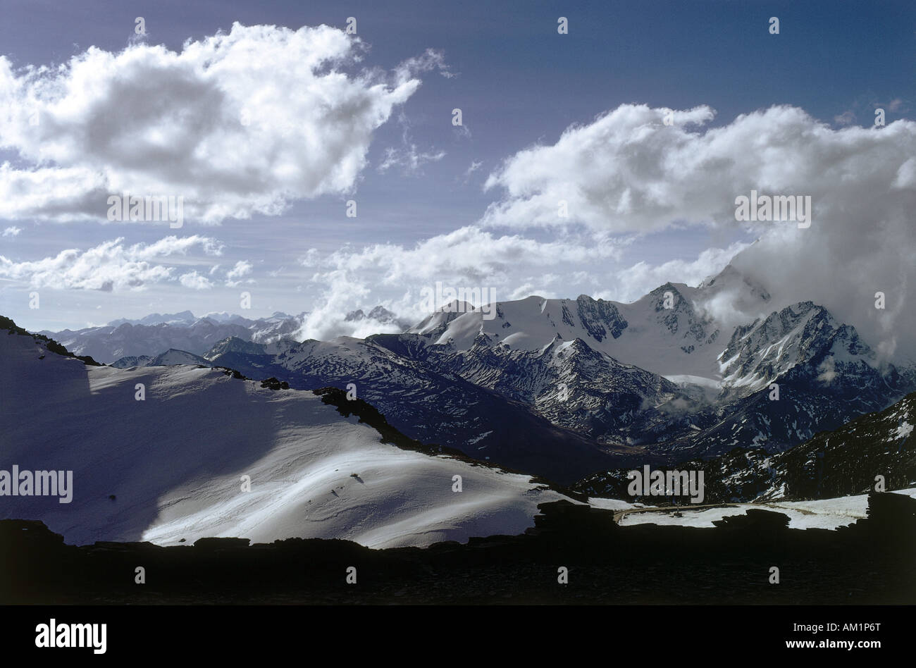 geography / travel, Bolivia near La Paz, observatory for cosmic physics, snow covered mountains, landscape, landscapes, - Stock Image