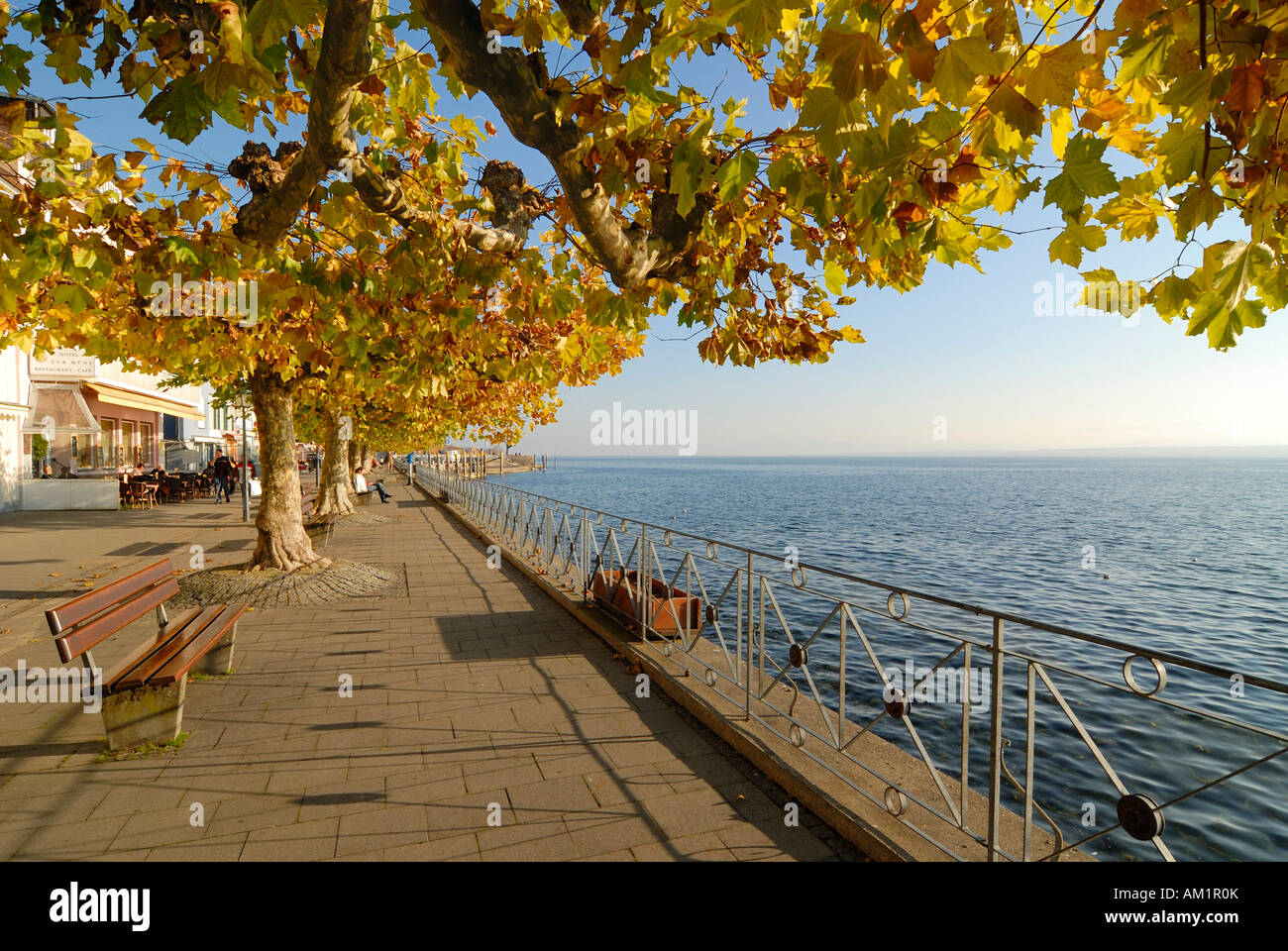 Meersburg - the waterfront - Baden Wuerttemberg, Germany Europe. Stock Photo