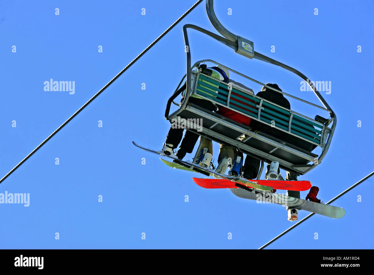 Thredbo skiing - Stock Image