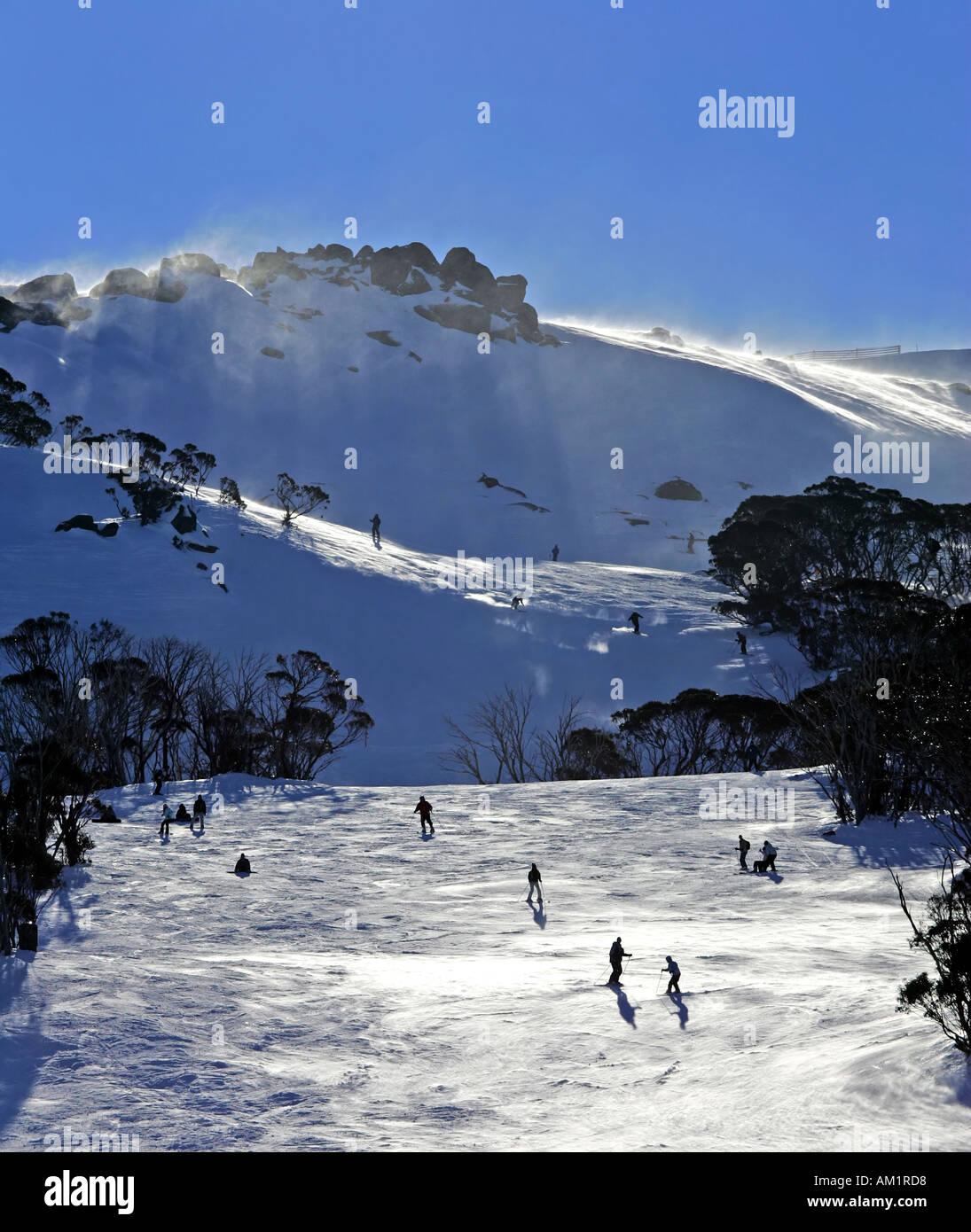 Thredbo skiing - Stock Image