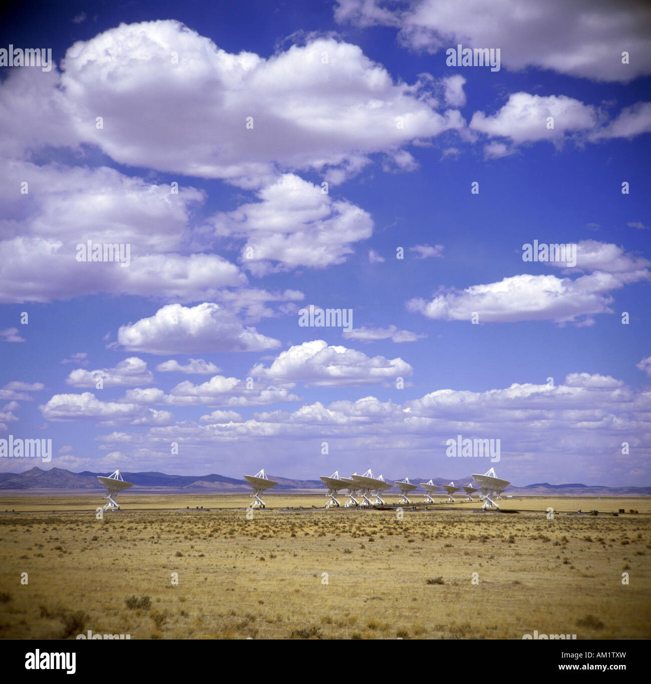geography / travel, USA, New Mexico, Socorro, National Radio Astronomy Observatory, North America, satellite dish, Stock Photo