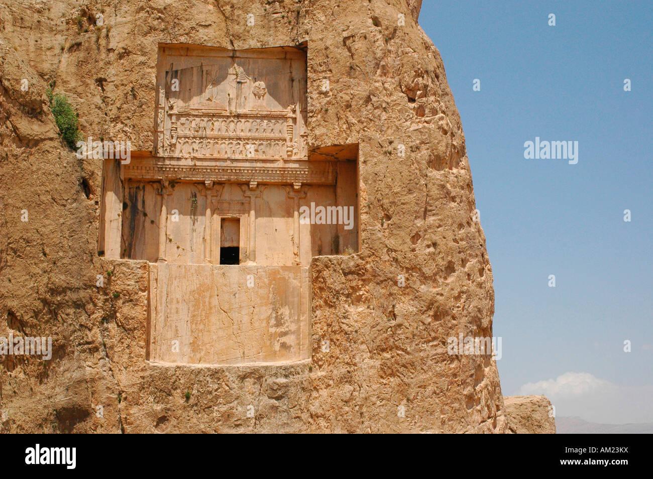 Darius II of Persia tomb in Naqsh e Rustam IRAN Stock Photo