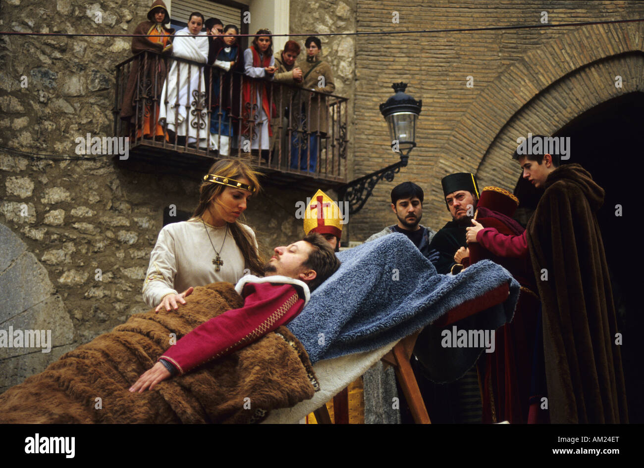 Legend of Teruel lovers MIDDLE AGES FESTIVAL in TERUEL Spain Stock Photo