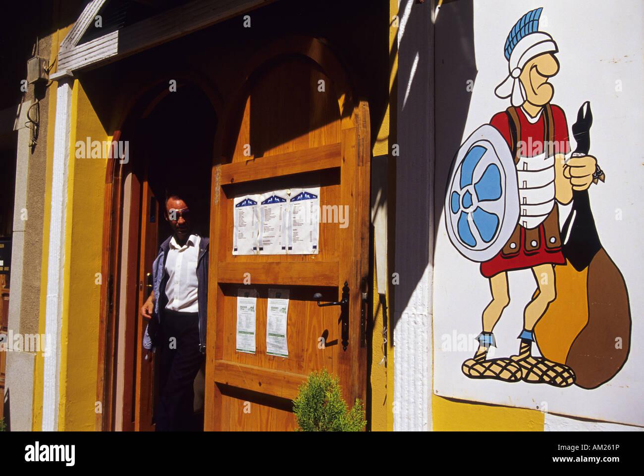 Bar MERIDA Badajoz Extremadura Spain - Stock Image