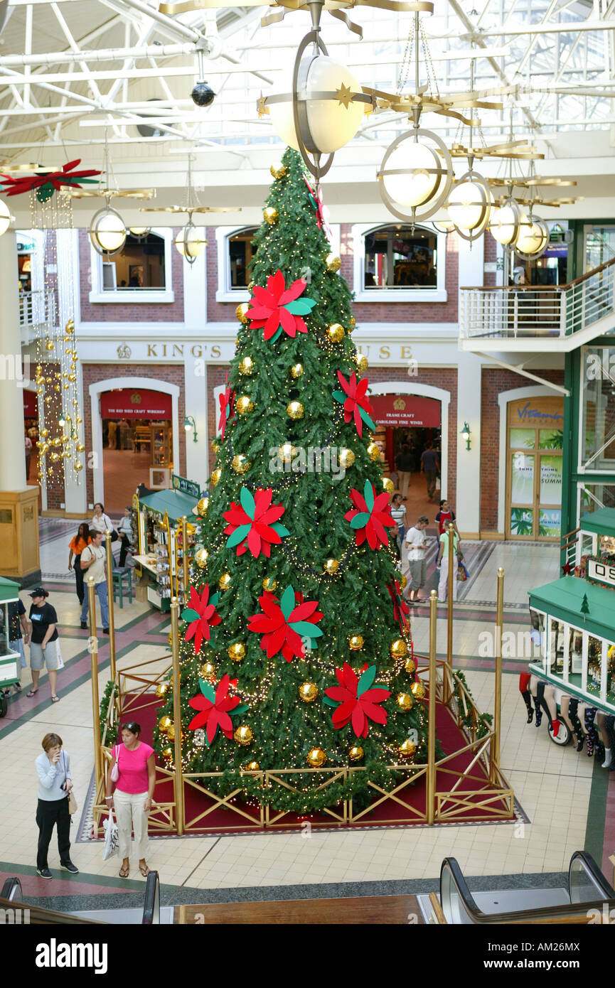 department store christmas decoration cape town south africa stock image