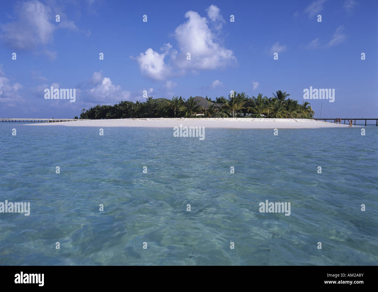 geography / travel, Maledives, Machchafushi Island, view from the sea, Additional-Rights-Clearance-Info-Not-Available - Stock Image