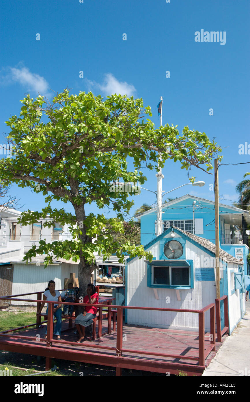 Harbourfront Shack, Dunmore Town, Harbour Island, Out Islands, Bahamas, Caribbean - Stock Image