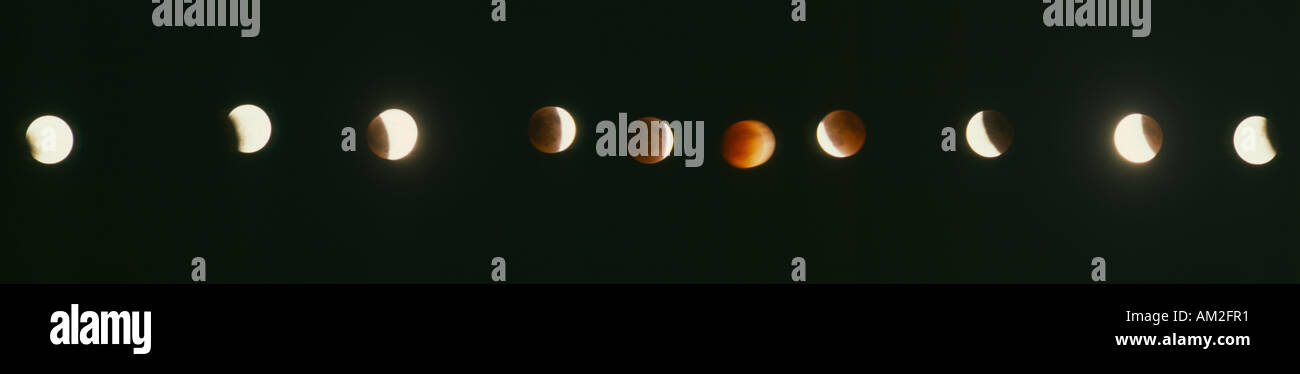 SPACE Moon Eclipse - Stock Image