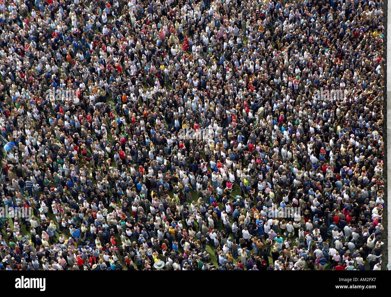 Overhead Aerial Shot Crowd At Liverpool Mathew Street Festival 2005
