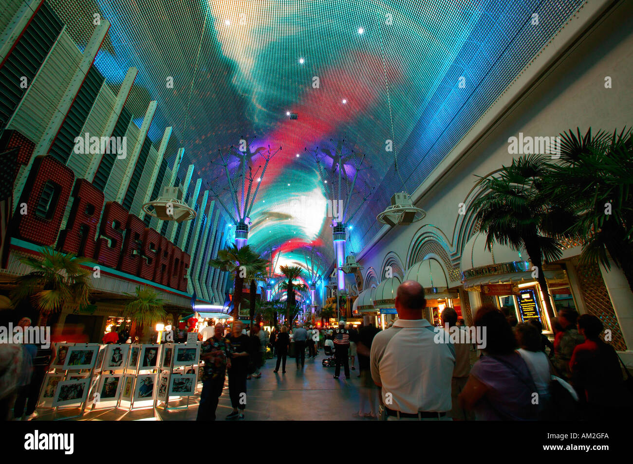 Laser Light Show In Downtown Las Vegas Nevada
