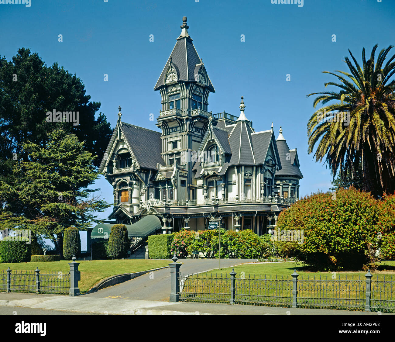 Carson Mansion in Eureka California USA - Stock Image