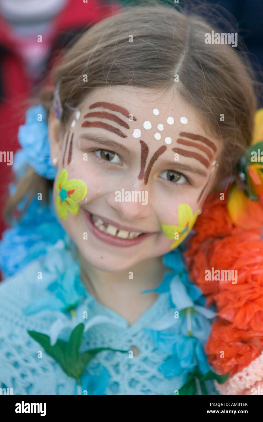 a49faca5f Little girl and face painting at winter carnival Saranac Lake New ...