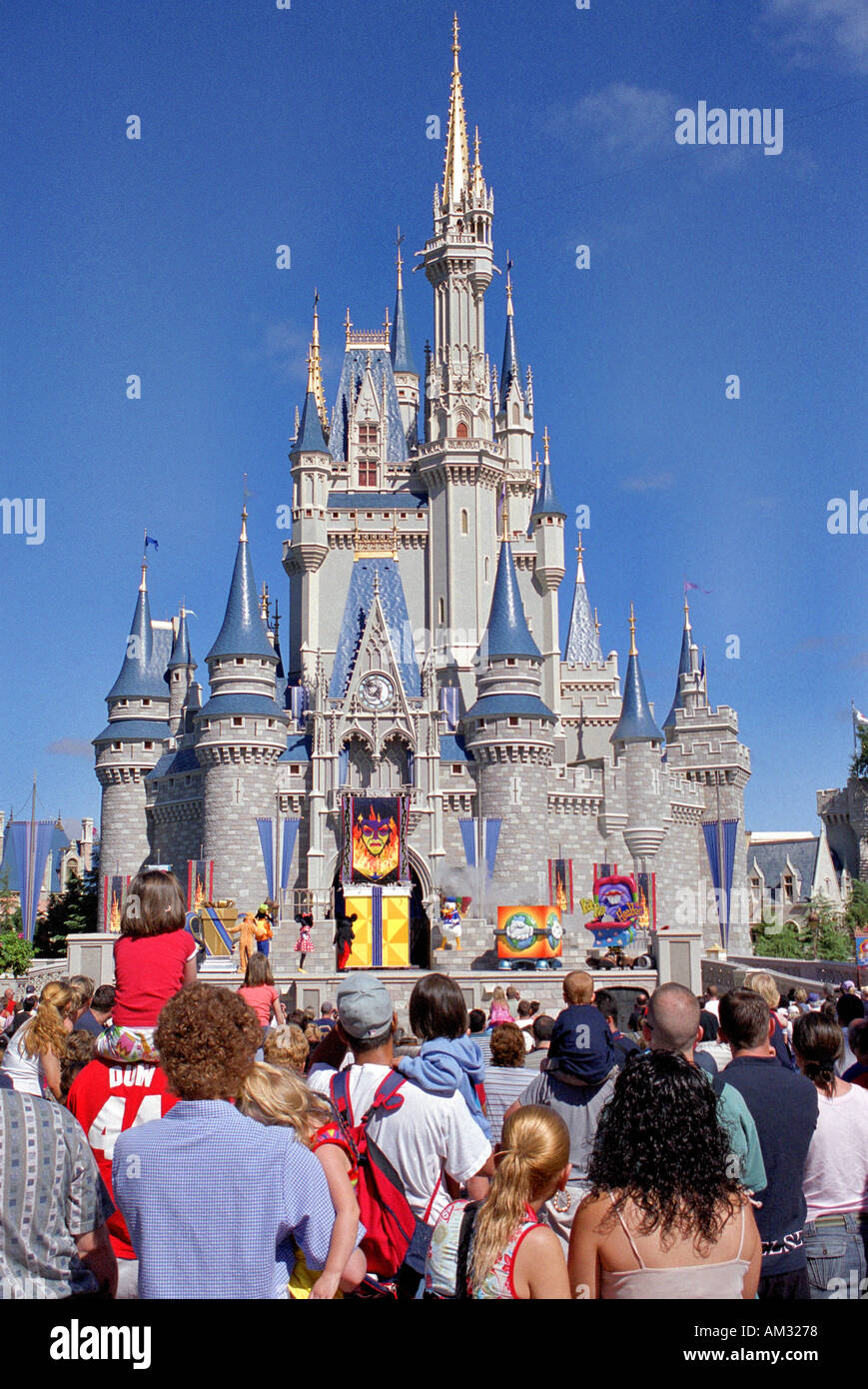 Disney Castle Magic Kingdom Disneyland Orlando Florida USA Stock Photo