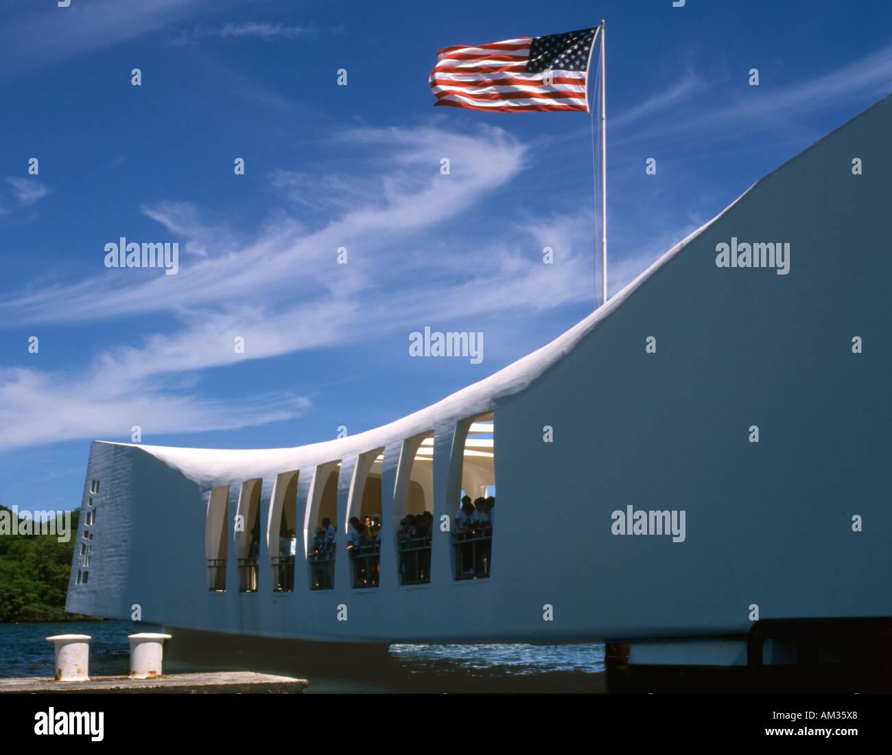 USA. Hawaii. Oahu. Pearl harbor. Arizona memorial. Stock Photo