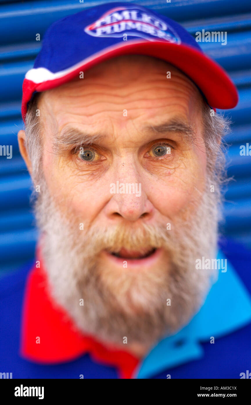 Buster Martin believed to be the UKs oldest employee at the age of 101. He cleans vans at Pimlico Plumbers, a London - Stock Image