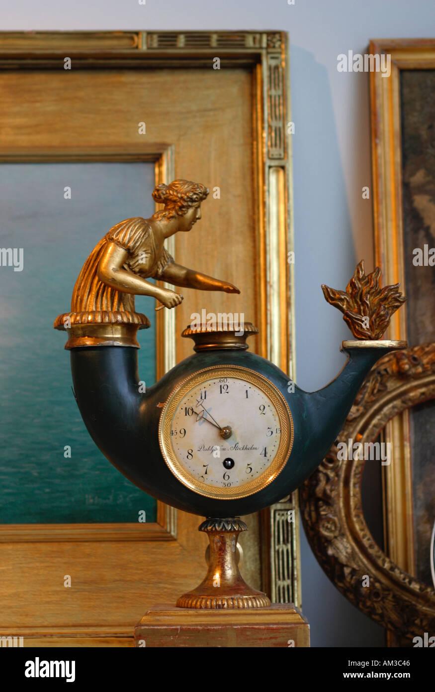 Antique Clock in office of Interior Decorator - Stock Image
