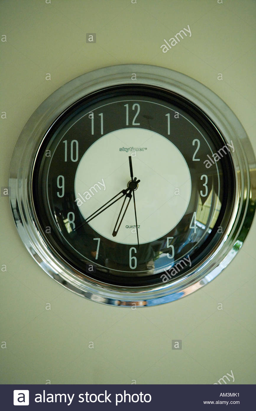 Art Deco Style Wall Clock   Stock Image