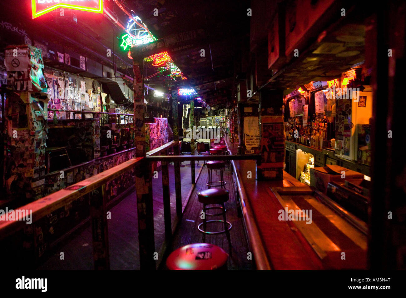 View Inside The Cbgb Club On The Bowery In New York City