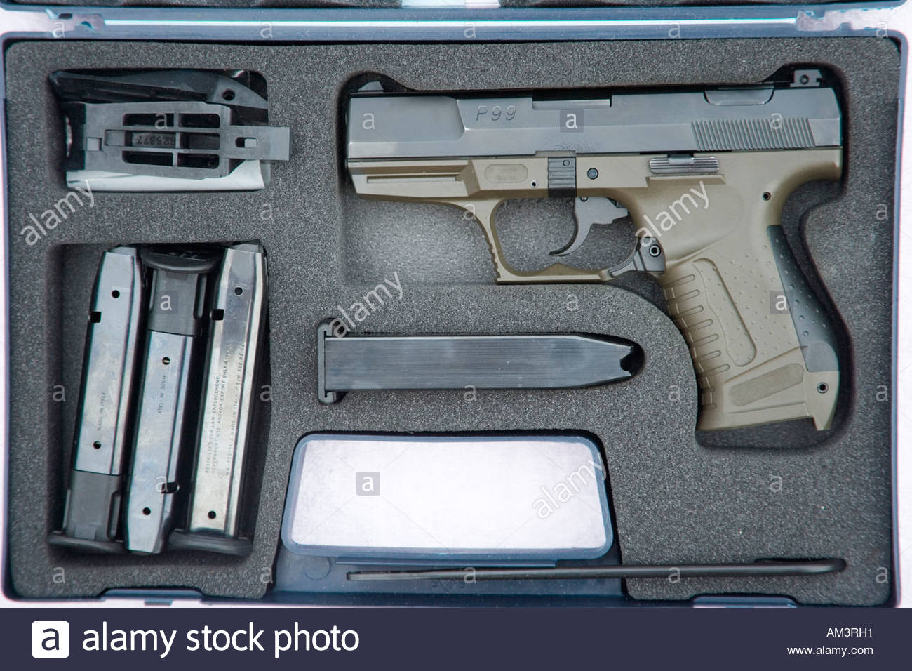 walther p99 semi automatic handgun and accessories in package stock