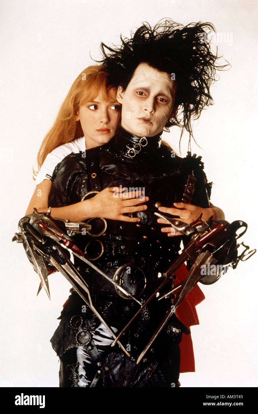 Edward Scissorhands 1990 Film With Winona Ryder And Johnny Depp Stock Image