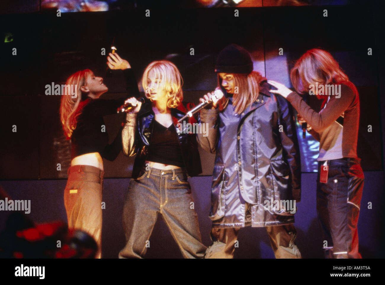 ALL SAINTS group in December 1997 - Stock Image