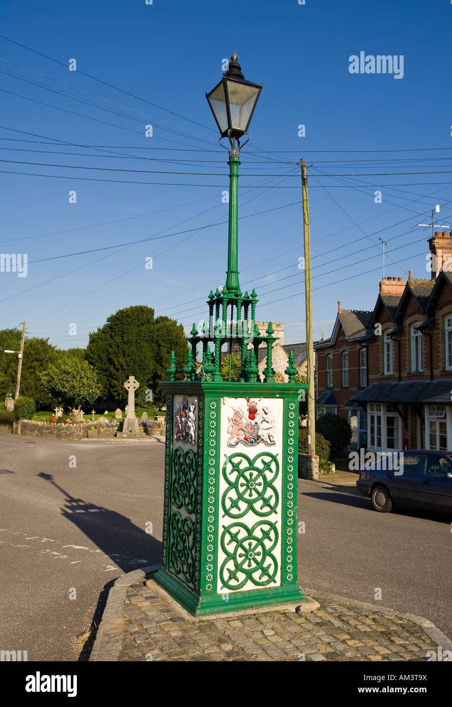 Old village water pump in the village of Hemyock, Devon, UK - Stock Image