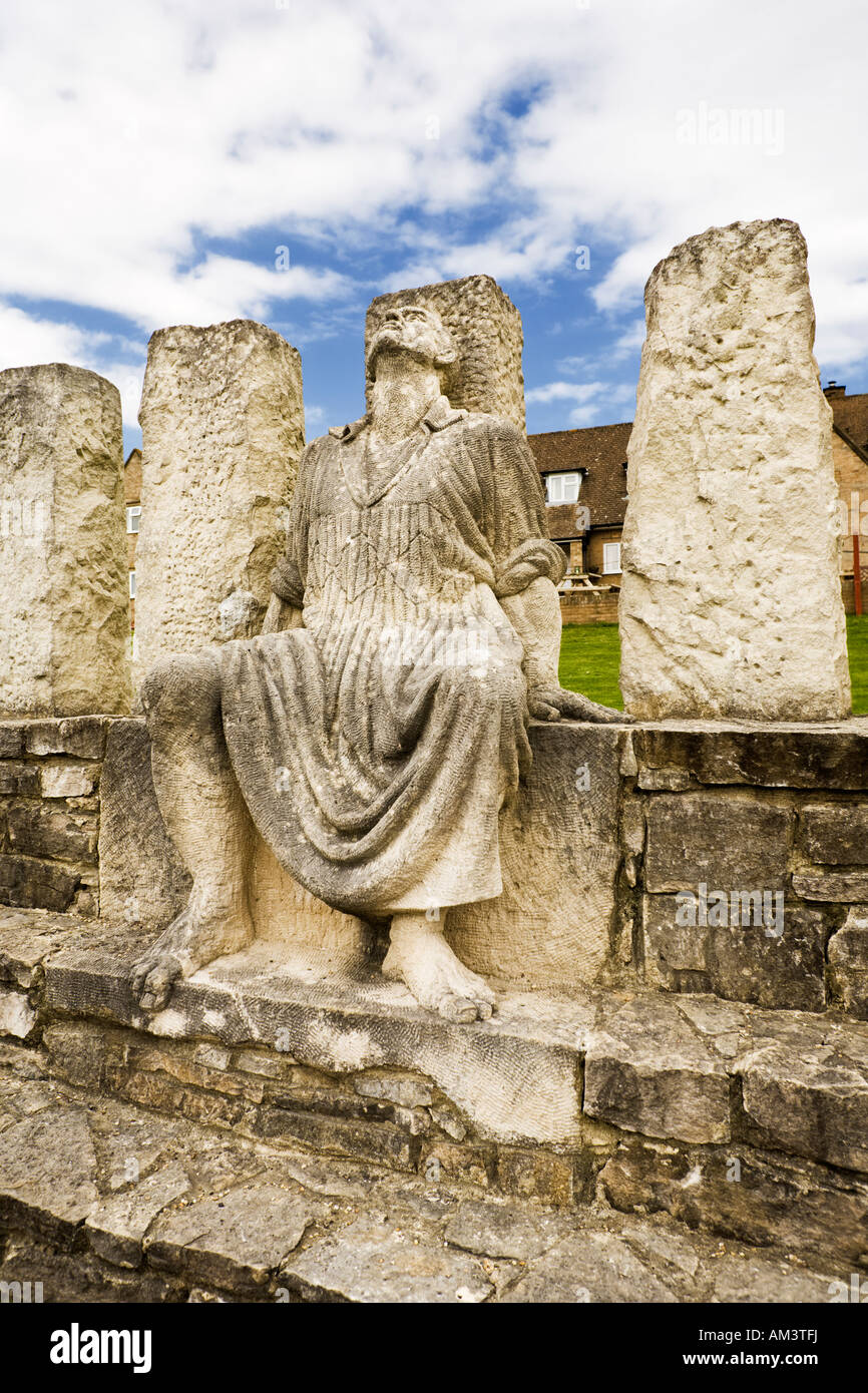 Memorial statue at the Tolpuddle Martyrs Museum, Tolpuddle, Dorset, UK - Stock Image