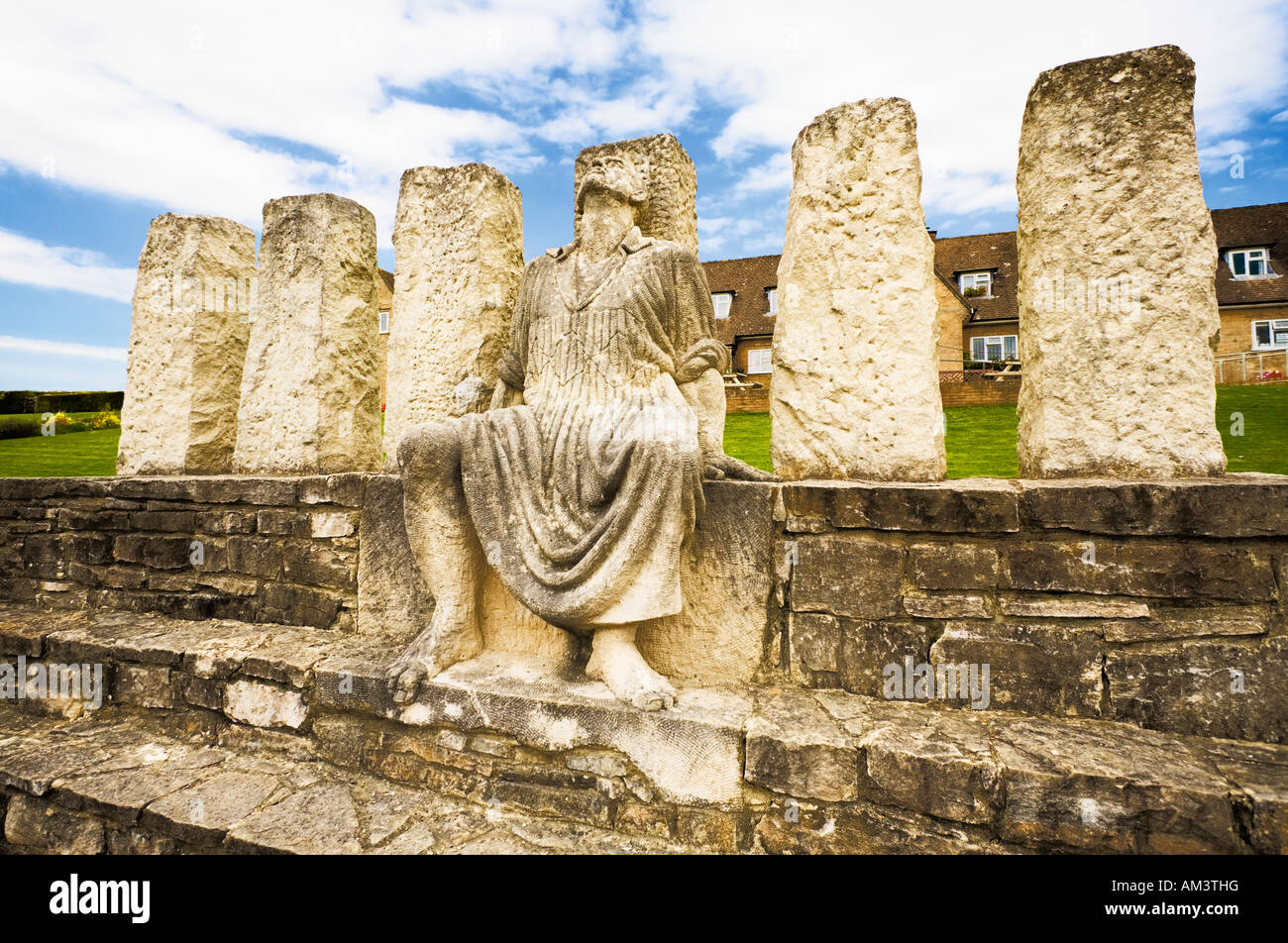 Memorial statue at the Tolpuddle Martyrs Museum Tolpuddle, Dorset, UK - Stock Image