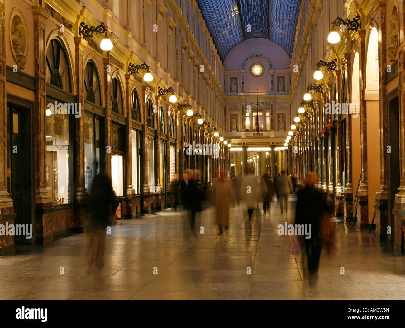 Galerie du Roi Brussels Belgium Europe - Stock Image