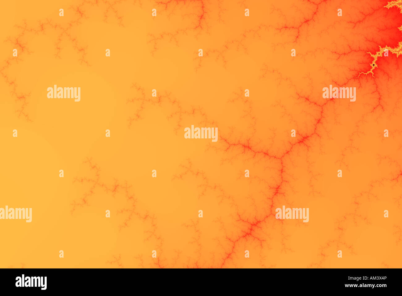 An abstract and simple fractal with warm shades Stock Photo