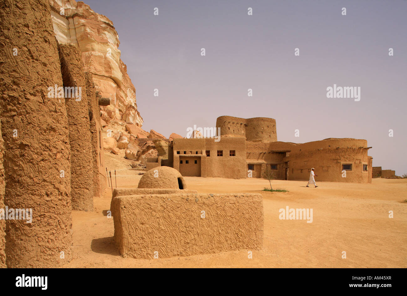 Egypte, the Libyan Desert, Siwa, Adrere Amellal Ecolodge, ecological bed and breakfast - Stock Image