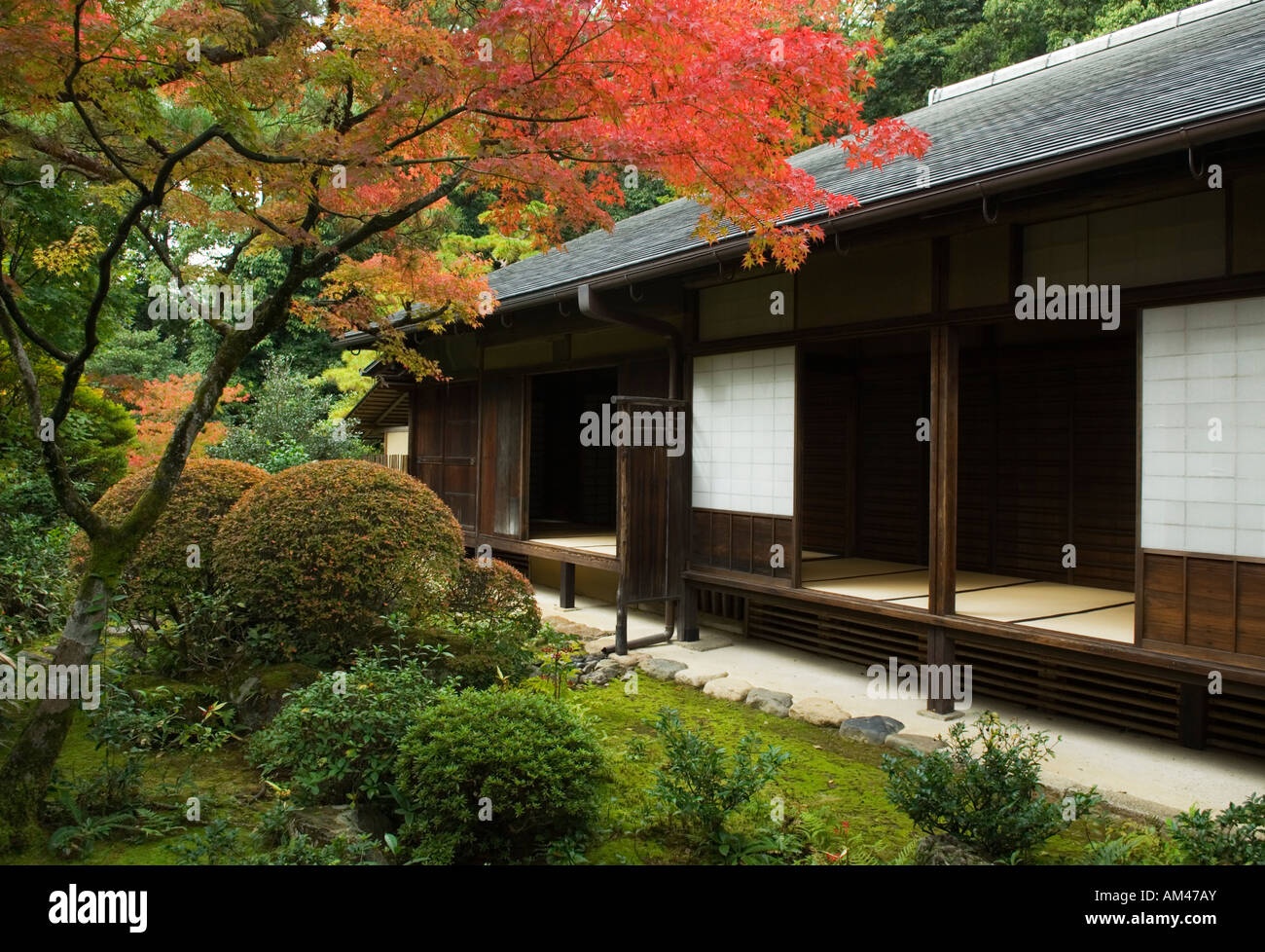 Zen Garden Kyoto Japan - Stock Image