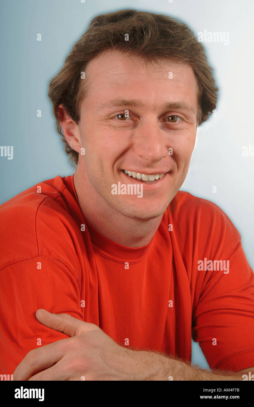 A happy 20-something man - Stock Image