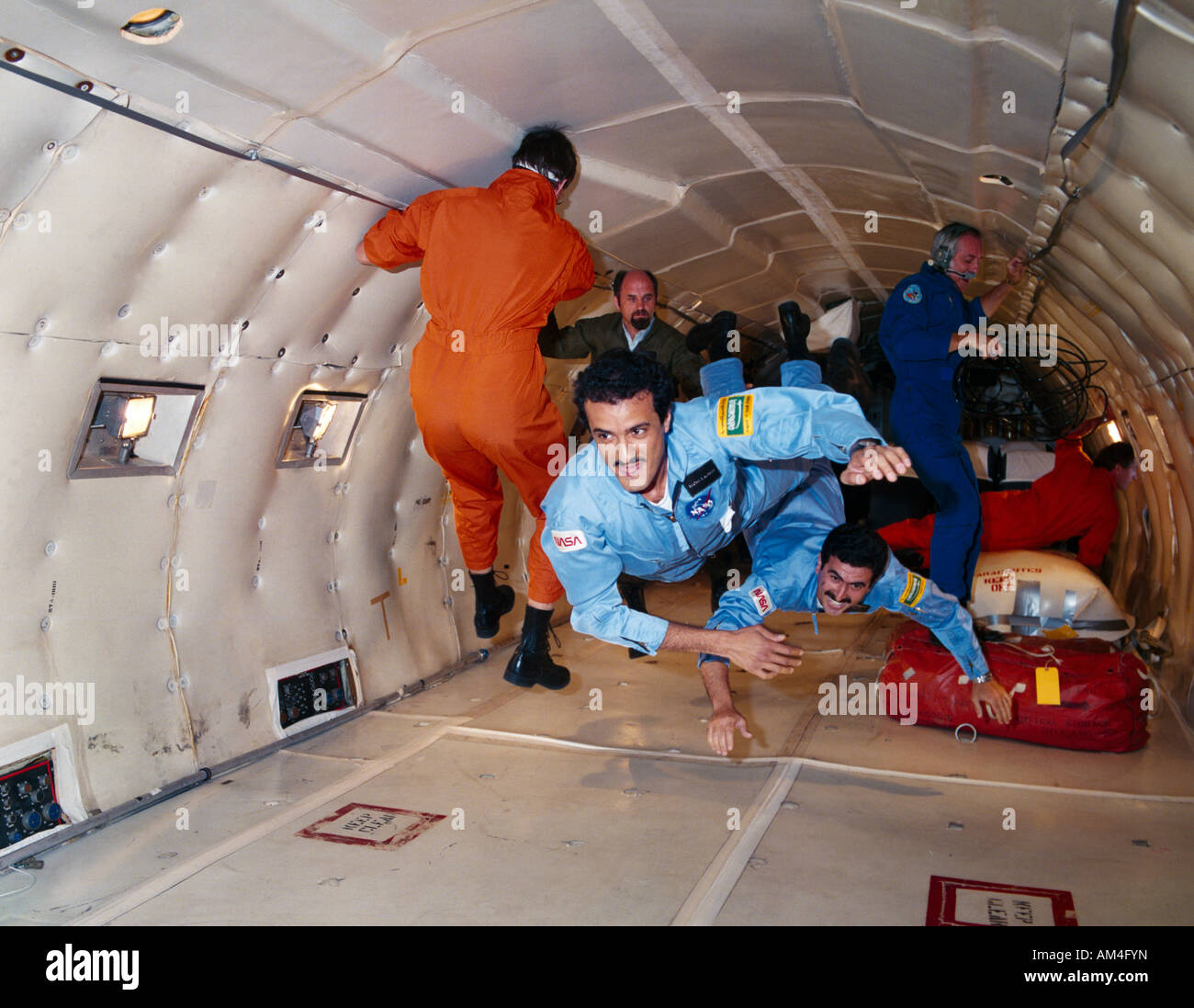 Sultan Bin Salman Bin Abdul Aziz And Space Crew - Stock Image