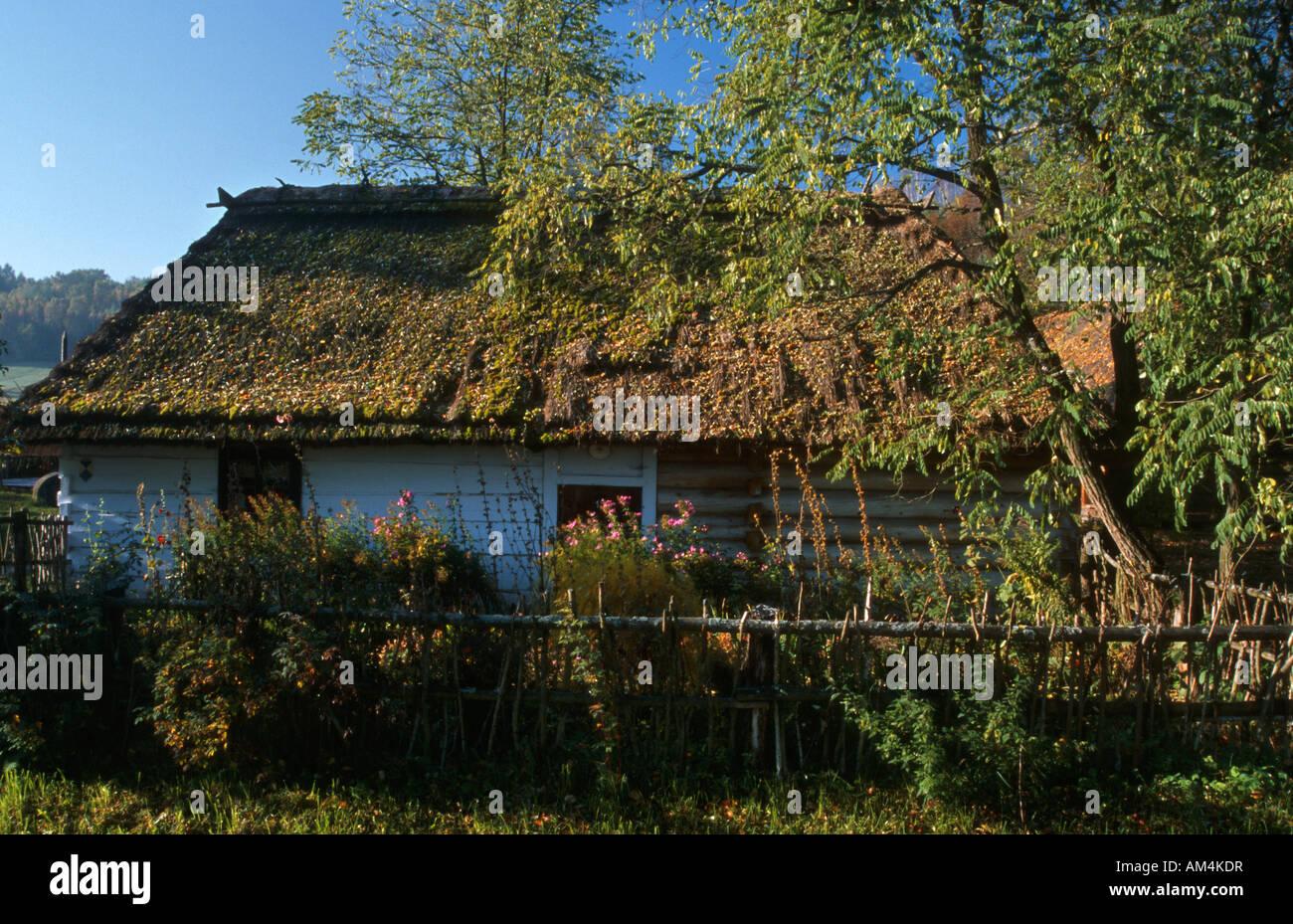 heritage park Zagroda Guciow farm Roztocze region in south east Poland Stock Photo